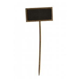 Garden marker slate on spike h.42 wood frame