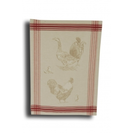 Tea towel 'goose and rooster' 70x50