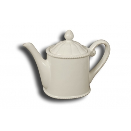 Collioure teapot, antique white ceramic