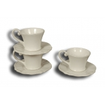 Collioure espresso cup and saucer, white ceramic h.5.5