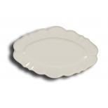 Collioure scalloped ceramic serving plate 37x23 white