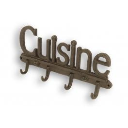 Cast iron row of hooks 'cuisine' (kitchen) l30