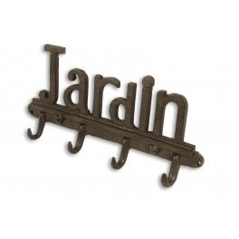 Cast iron row of hooks 'jardin' (garden) l30