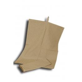 Olive check dish cloth 70x50