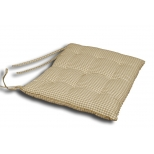 Olive check chair cushion 40x40