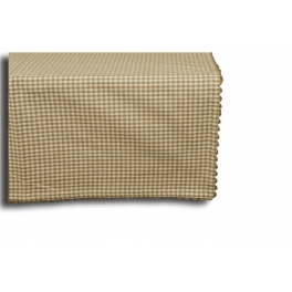 Olive check square table cloth 150x150