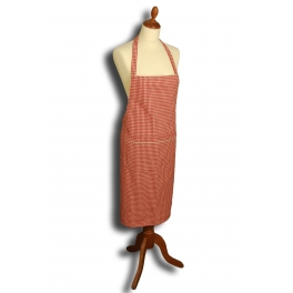 Red check apron h.85x70
