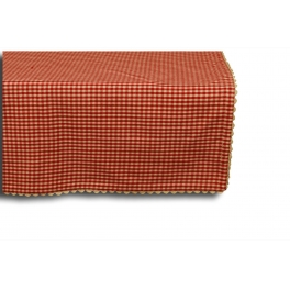 Red check rectangular table cloth 250x150