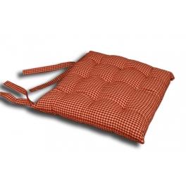 Red check chair cushion 40x40
