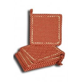 Red check pot holder 20x20