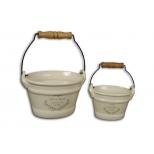 Ceramic pail 13.5x10 'savon de marseille'