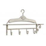 Ivory patina hanger with hook rack 'bain' h.42 65x15 'bain'