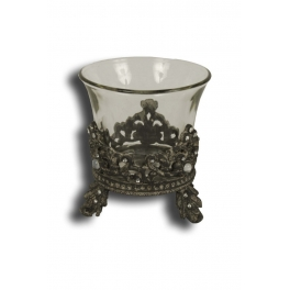 Ornate candle holder with brilliants h.10 d.9