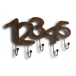 12345 hook rack 55x34 rust finish