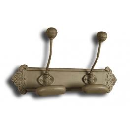 Pressed metal bronze double wall hook L 35 x W 9
