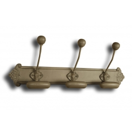Pressed metal bronze triple wall hook L 50 x W 9
