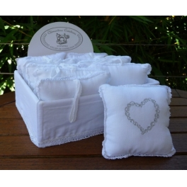 Embroidered fragrance pillows rose scent 12x12