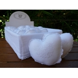 Embroidered fragrance heart pillows rose scent 10x10