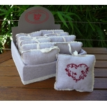 Embroidered fragrance pillows red fruits scent 12x12