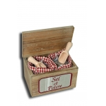 Box with 200g sel de camargue, 80g pepper and dosers h.17 16x11