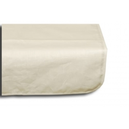 Treated table cloth, white, linen 250x160