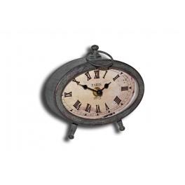 Bedside vintage metal 'alarm' clock 15x7 h.13.5