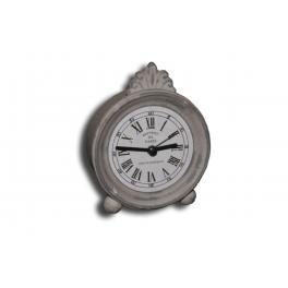 Bedside vintage metal 'alarm' clock d.10 h.12.5
