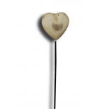 Garden marker, reconstituted stone heart on spike h.38 6x3.5