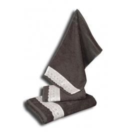 Guest towel, anthracite cotton 30x50