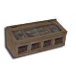 Wooden box with glass panel 30x12 h12