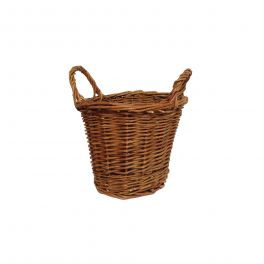 Natural wicker round basket h.16 d.17