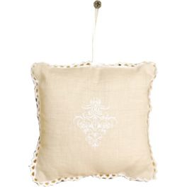 Embroidered clothes fragrance pillow rose scent 12x12