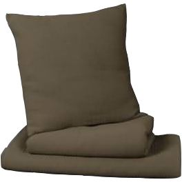 Rib textured bed throw, taupe 240x180