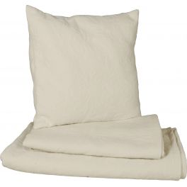 Floral embossed square cushion ivory, removable cover 48x48 'garance'