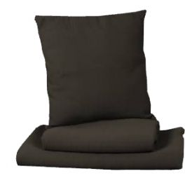 Rib textured square cushion, anthracite removable cover 48x48 'home'