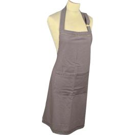 Apron, taupe cotton h85