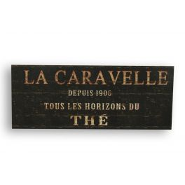 Metal plate 'la caravelle' 50x20