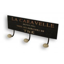 Plate with 3 hooks 'la caravelle' 37x10