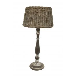 Wicker shade haute table lamp h.52
