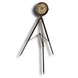 Tripod mounted workshop clock, metal h.143
