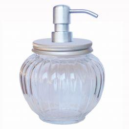 Glass pumpkin jar soap dispenser h.17 d.12