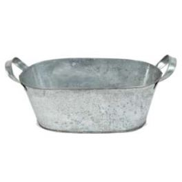 Zinc bucket, oval large h.10 26x16