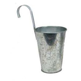 Zinc pail with hook h.24 d.11.5