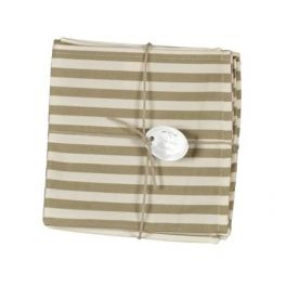 Olive stripe serviettes (set of 6) L 40 x W 40