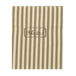 Olive stripe tea towel L 70 x W 50