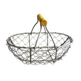 Wire basket medium, oval, powder coated 17x10