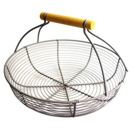 Wire basket large, round, powder coated D 27 x H 18