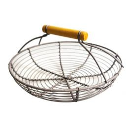 Wire basket small, round, powder coated D 21 x H 11