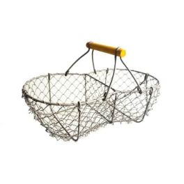 Wire basket 2 compartments, powder coated L 26 x W 12.5