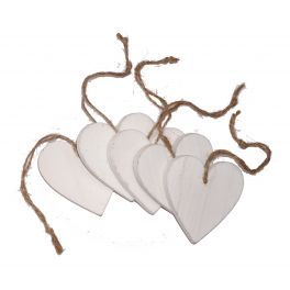 Sachet with 5 wooden hearts H.7